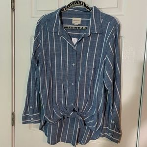 NWT American Eagle Stripped Button Up
